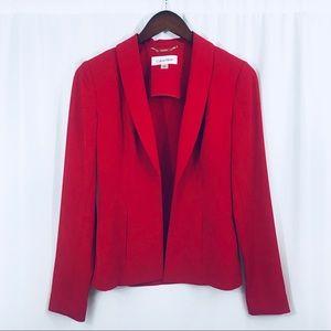 New Calvin Klein red open front lapel blazer